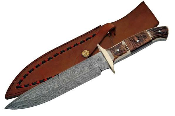 Real DAMASCUS Steel Hunting Knife DM1044