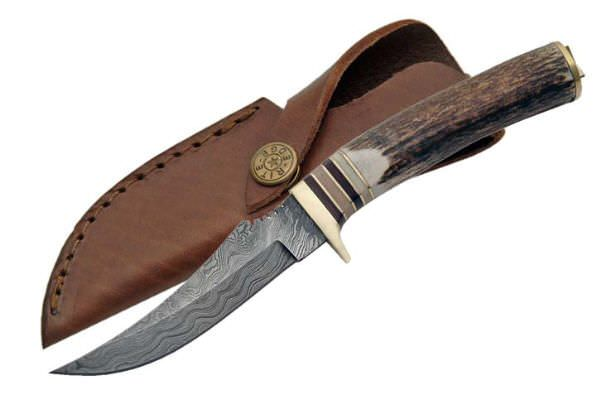 Real DAMASCUS Steel Hunting Knife DM1048