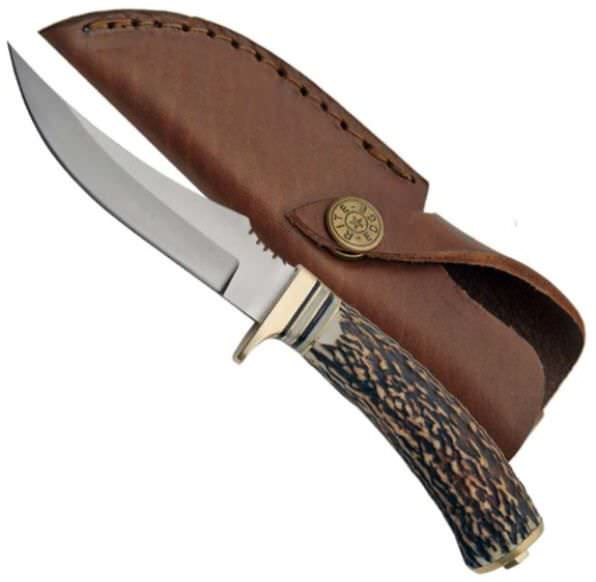 Real Stag Handle Hunting Knife SS7002