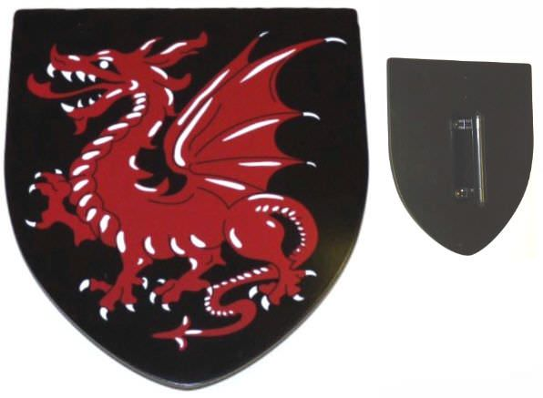 Red Dragon Hardwood Shield MV011