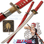 Bleach - Renji Abarai Unawakened Handmade Katana (red) 40&quot;