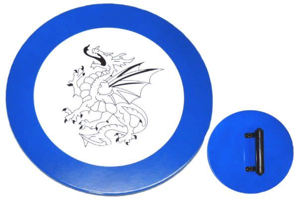 Round Dragon Hardwood Shield MV001