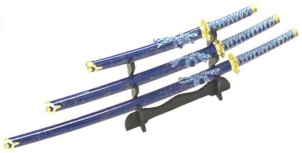 3pc Set Samurai Sword Set K0021-4bl