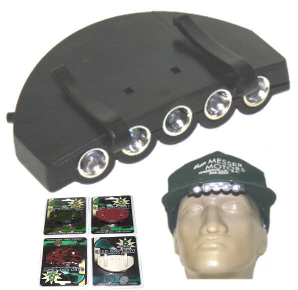 5 LED Clip-On Cap Light CAPLIGTCAMO