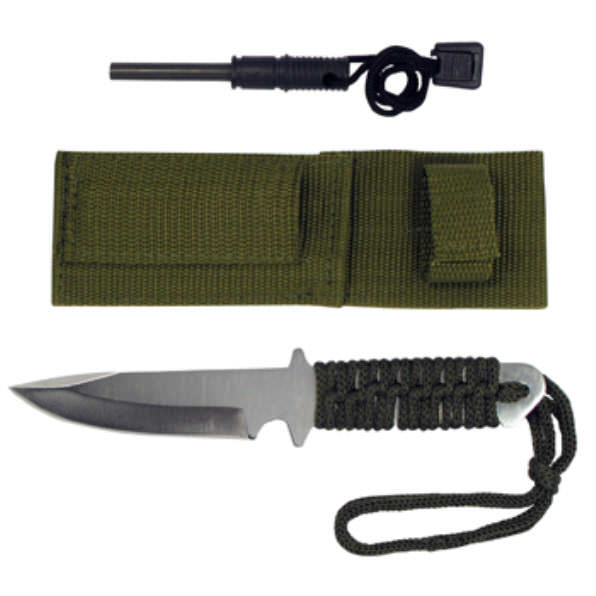 Full Tang Survival Knife & Fire Starter KC7764