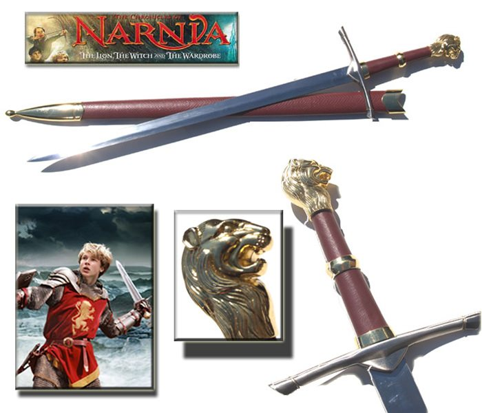 Narnia Peter's Sword with Hard Leather Scabbard