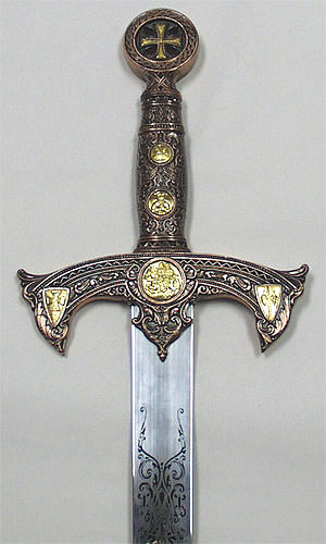 Knights of Templar Crusader Sword &amp; Plaque 47&quot;