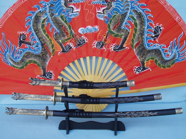 Samurai Sword Dragon 4 Piece Set 41""