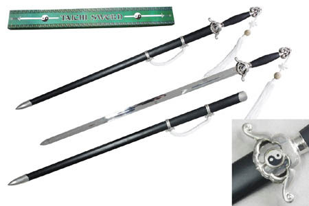 Black Chinese Tai Chi Sword with Scabbard 41""