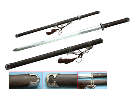 Chinese Tangian Sword and Scabbard  42""