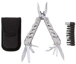 Maxam Stainless Steel Plier Multi-Tool with 9 Bits