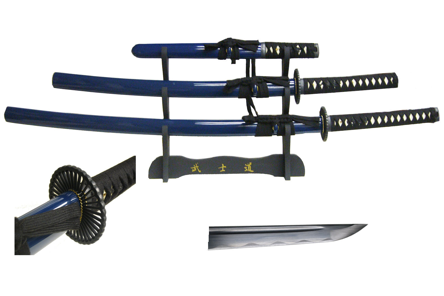 Musha Hand Hond Razor Sharp Samurai Sword Set with Stand 41""