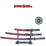 Musashi Hand Honed Katana Set - Red