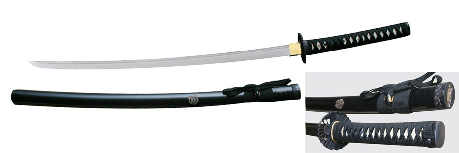 Japanese Shogun Family Crest Honed Razor Sharp Samurai Sword 38 1/2""