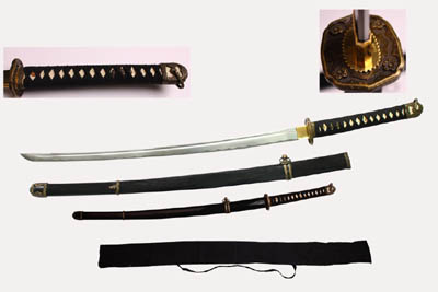 Musha WWII Japanese Officer Sword Katana 40 1/2""