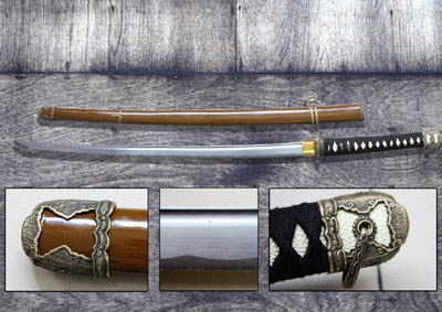 """WWII Japanese Officer Hand Forged Sword 41"""""""