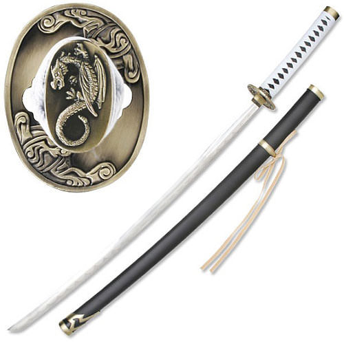 Dragon Guardian Samurai Sword w/ White Ito 41&quot;