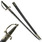 PIRATE SWORD WITH BRASS COLOR HANDLE 38&quot;
