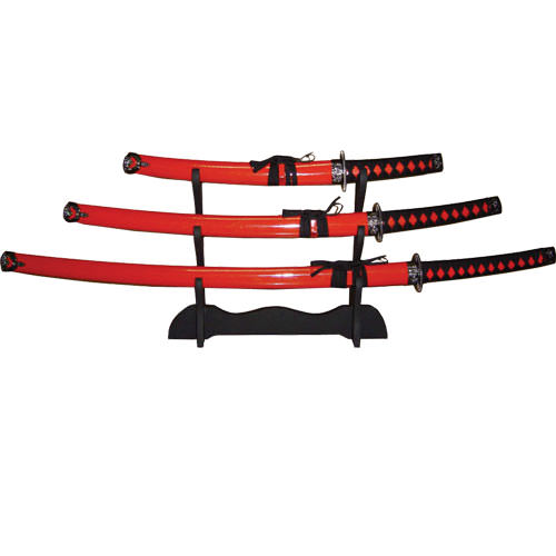 Hardwood Red Katana 3-Piece Set 39""