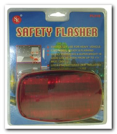 Safety Flasher 18 LED Bulbs FL318R