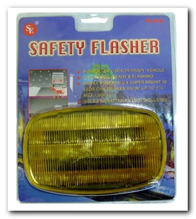Safety Flasher 18 LED Bulbs FL318Y