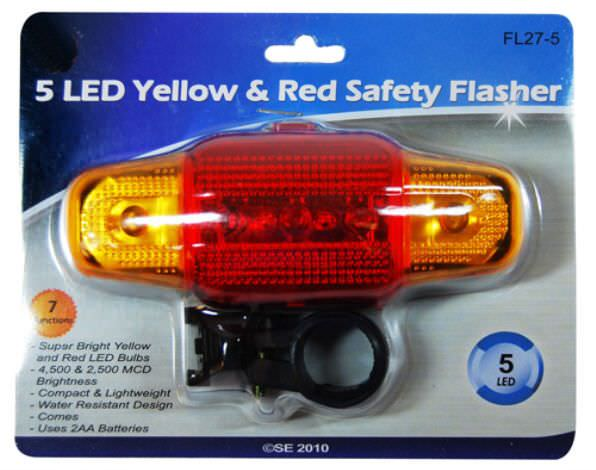 Safety Flasher 5 LED Bulbs FL27-5