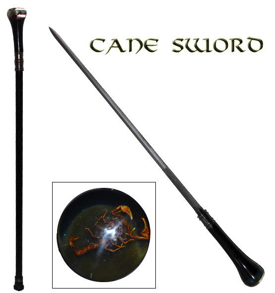 Scorpion Clear lexan Executive Sword Cane SW-08