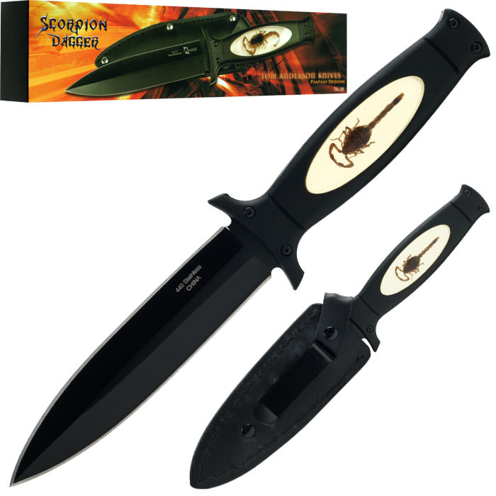 Scorpion Dagger - Tom Anderson Fantasy Knife - 9 inches