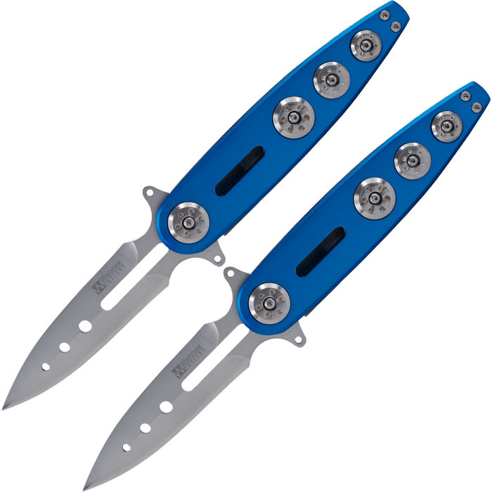 Set of 2 WhetstoneT Blu Ice Pocket Folding Knives