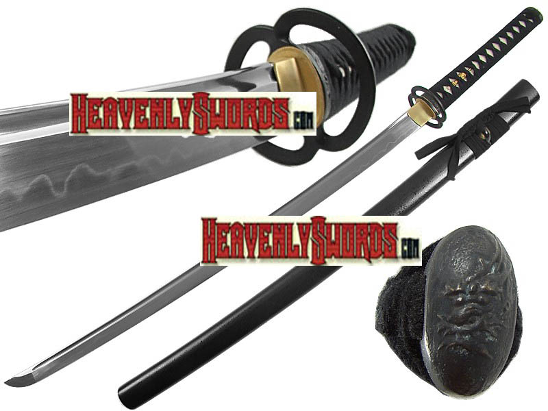 Ten Ryu Forged Musashi Black Katana 39 1/2""