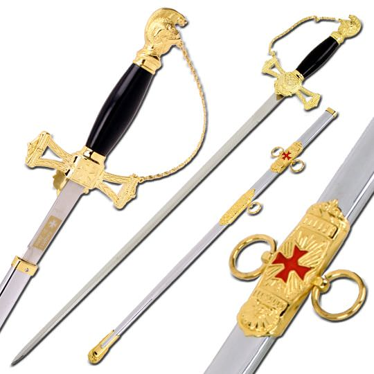 The Knights of St John Sword & Sheath SB893GD