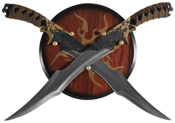Twin Fantasy Sword Plaque and Sheath Set H6011
