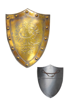 Gold Medieval Shield 24 x 17