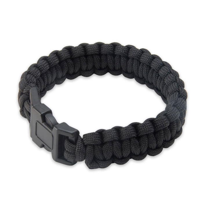 Elite Forces Black Survival Bracelet 9""
