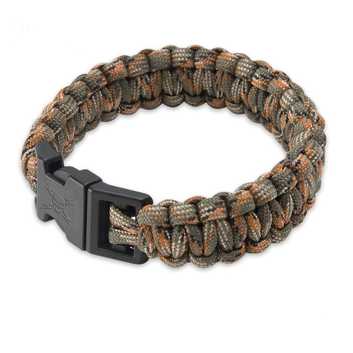 United Elite Forces Survival Bracelet OD Green 9&quot;