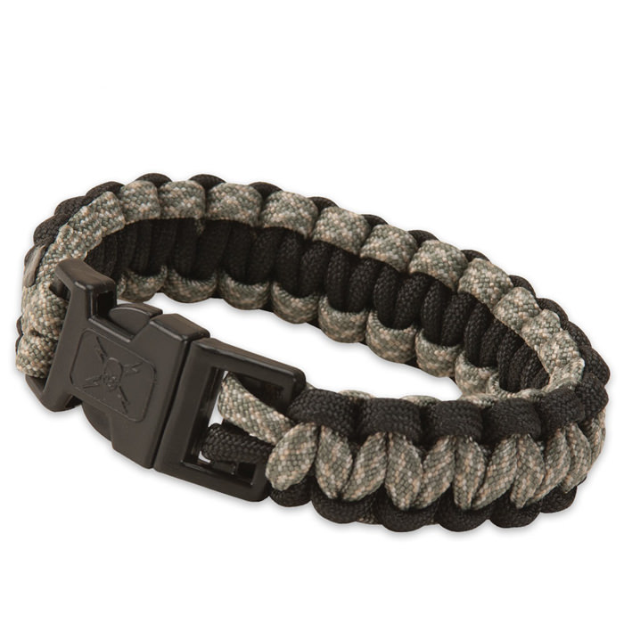 United Elite Forces Survival Bracelet Black Camo 9&quot;