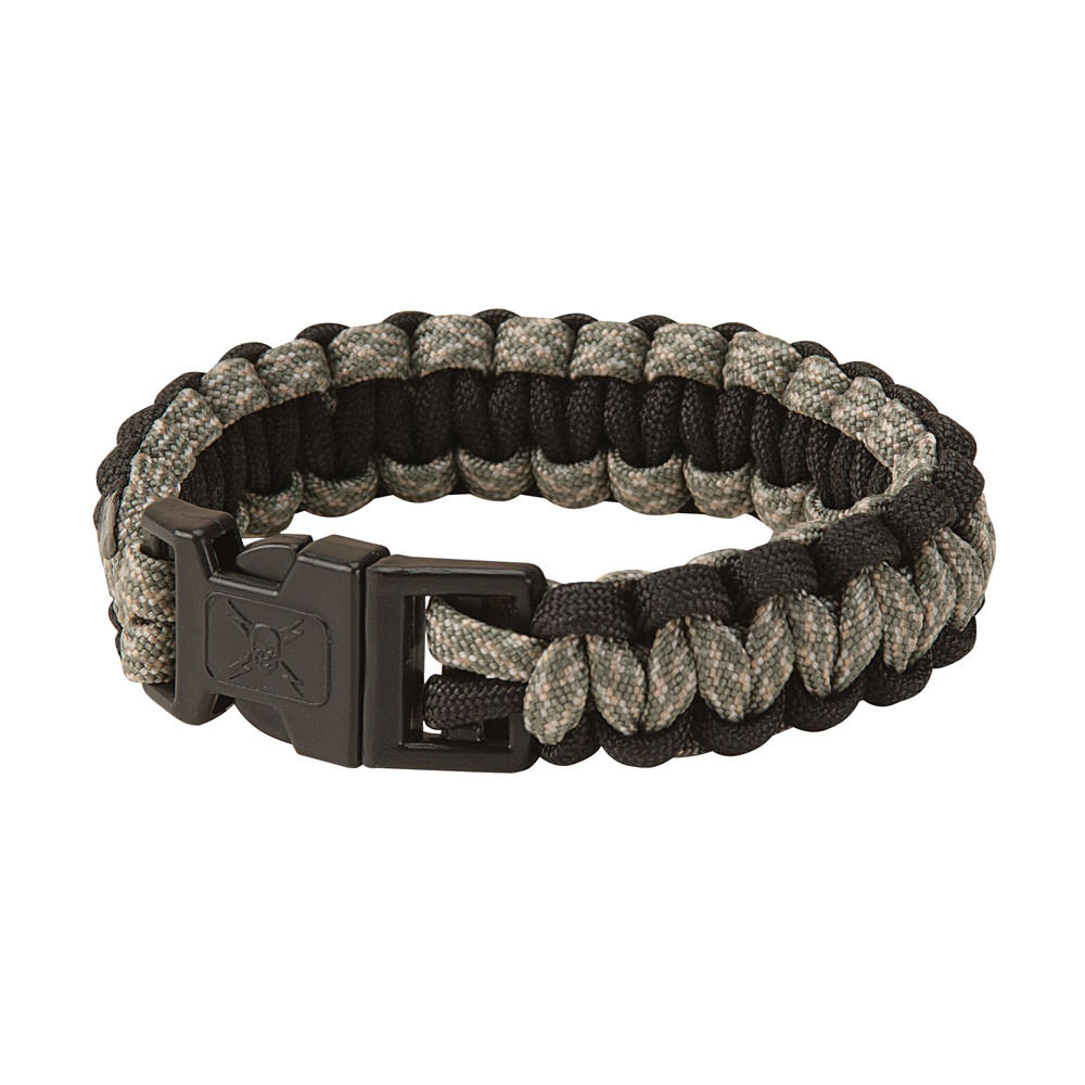 United Elite Forces Survival Bracelet Black Camo 9""