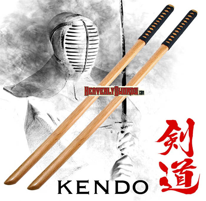 Set of 2 Katana Wooden Bokken Practice Sword Kendo 39""
