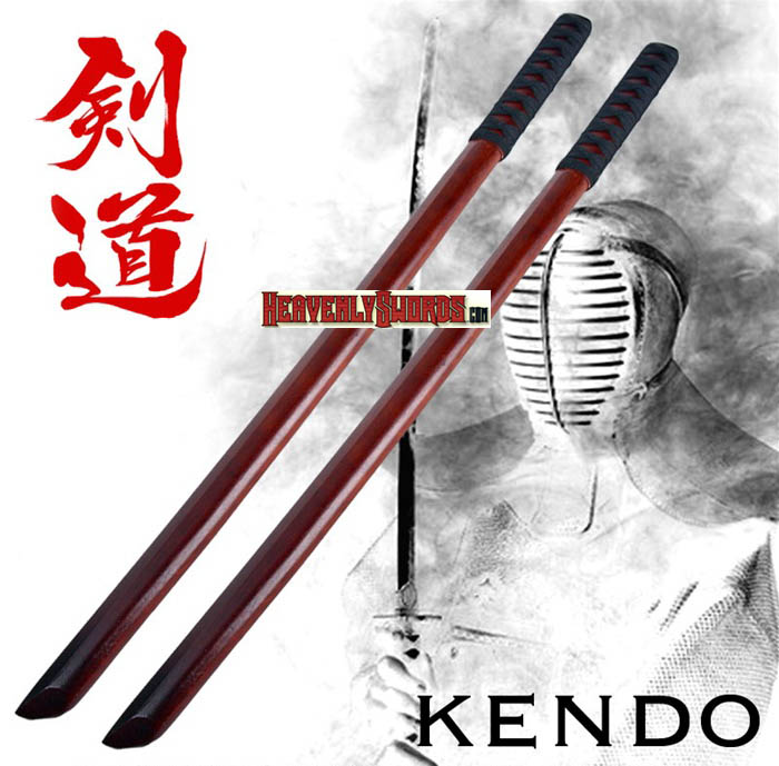 Set of 2 Wakizashi Bokken Wooden Practice Sword 31""