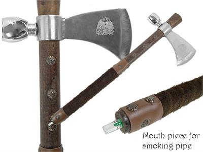 Fully Functional Tomahawk Peace Pipe 19""