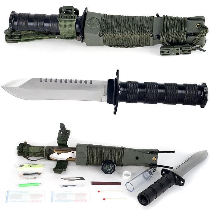 WhetstoneT Anchored Eagle Survival Knife with Sheath