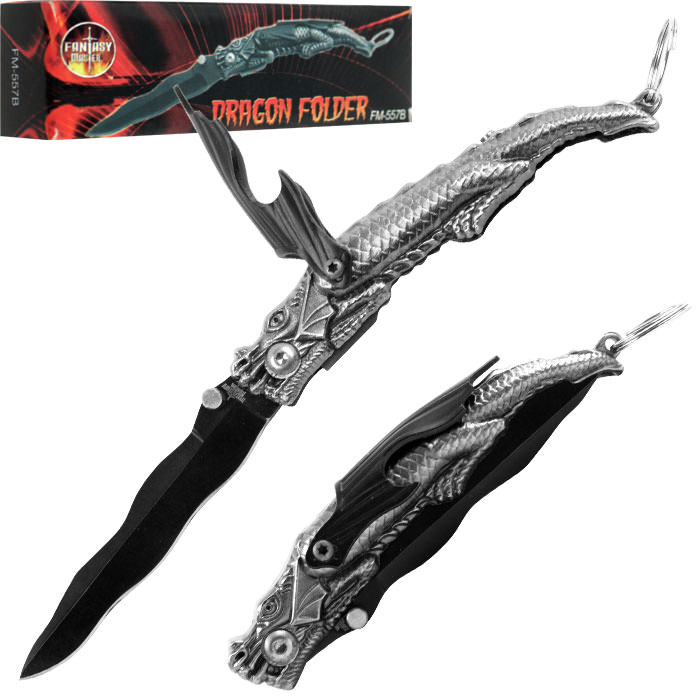 Whetstone Fantasy Master Dragon Folder w/ Bottle Opener - 6