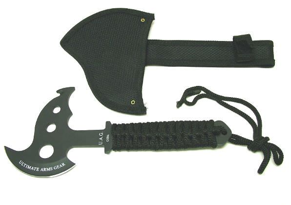 Black Tomahawk Fantasy Battle Axe 10 1/2""