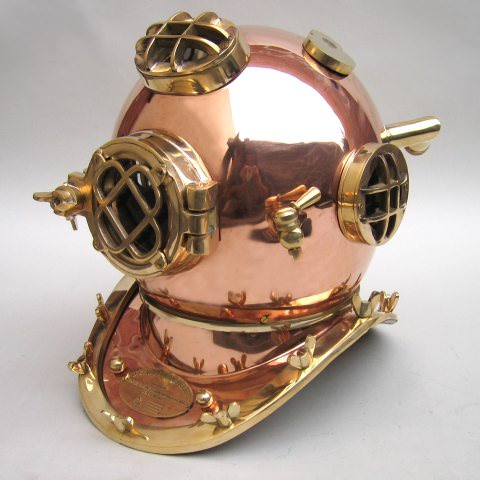 Copper Divers Helmet, Mark Five 18""