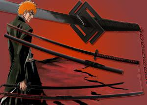 Bleach Ichigo Tensa Bankai FULL TANG Katana Sword 68&quot;
