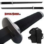 Full Tang Ninja Combat Sword 25 1/2&quot; w/ Back Strap - 2pc. 