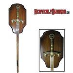 Knight&#039;s Templar Sword with Display 47&quot;