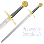 Medieval Longsword Gold and Silver 35&quot;