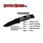 S&W Baby Black Frame Serrated
