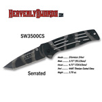 S&W Camo Frame Lock Serrated